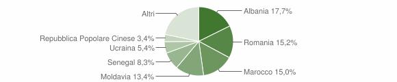 Grafico cittadinanza stranieri - Faenza 2013