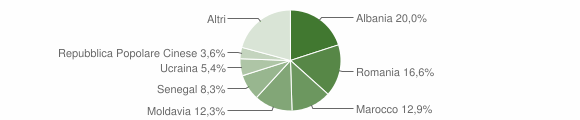 Grafico cittadinanza stranieri - Faenza 2015