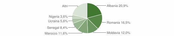 Grafico cittadinanza stranieri - Faenza 2016