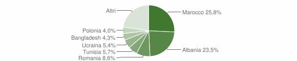 Grafico cittadinanza stranieri - Modigliana 2019