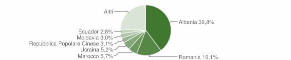 Grafico cittadinanza stranieri - Rivergaro 2019