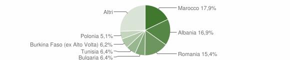 Grafico cittadinanza stranieri - Bertinoro 2009