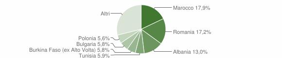 Grafico cittadinanza stranieri - Bertinoro 2010