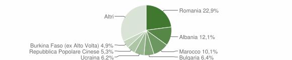 Grafico cittadinanza stranieri - Bertinoro 2013