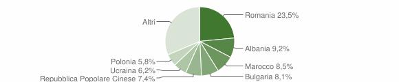 Grafico cittadinanza stranieri - Bertinoro 2019