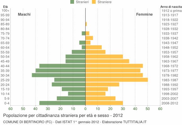 Grafico cittadini stranieri - Bertinoro 2012