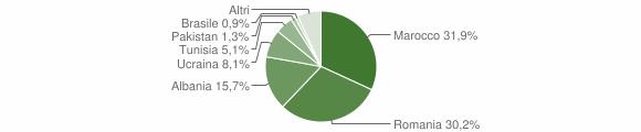 Grafico cittadinanza stranieri - Fontanelice 2016