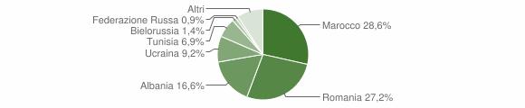Grafico cittadinanza stranieri - Fontanelice 2019