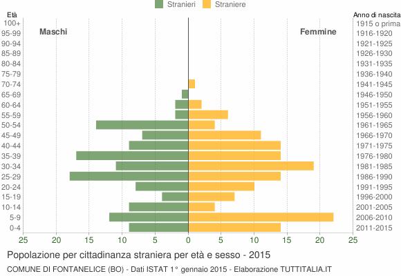 Grafico cittadini stranieri - Fontanelice 2015