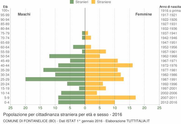 Grafico cittadini stranieri - Fontanelice 2016