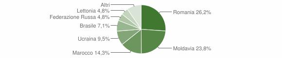 Grafico cittadinanza stranieri - Collagna 2010
