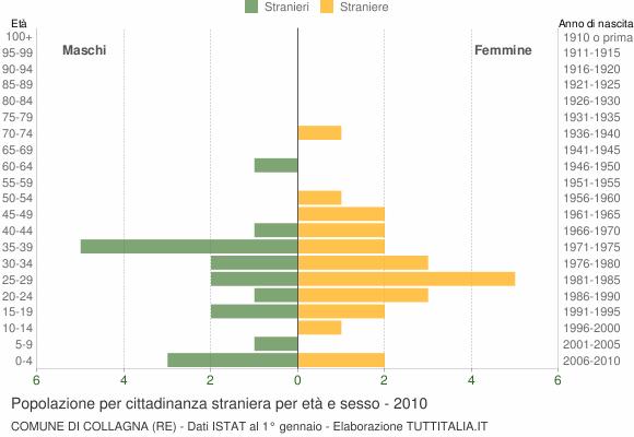 Grafico cittadini stranieri - Collagna 2010