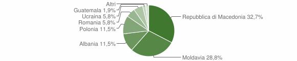 Grafico cittadinanza stranieri - Fiumalbo 2009