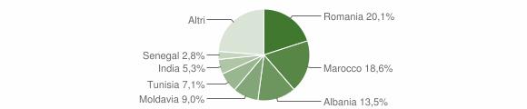 Grafico cittadinanza stranieri - Medesano 2017