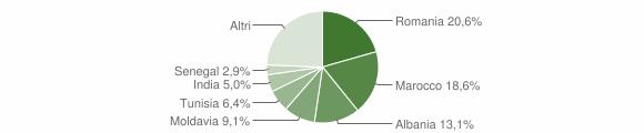Grafico cittadinanza stranieri - Medesano 2018
