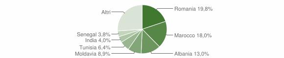 Grafico cittadinanza stranieri - Medesano 2019