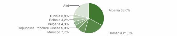 Grafico cittadinanza stranieri - Cesenatico 2010