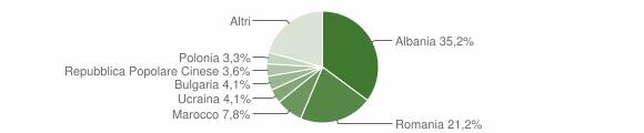 Grafico cittadinanza stranieri - Cesenatico 2013