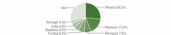 Grafico cittadinanza stranieri - Langhirano 2008