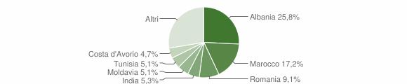 Grafico cittadinanza stranieri - Langhirano 2010