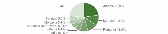 Grafico cittadinanza stranieri - Langhirano 2015