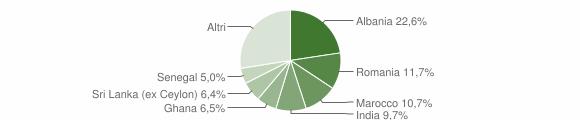 Grafico cittadinanza stranieri - Langhirano 2017