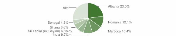 Grafico cittadinanza stranieri - Langhirano 2018