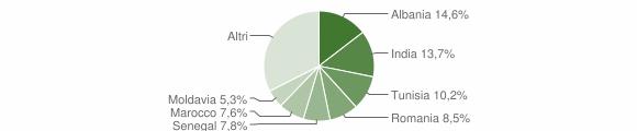 Grafico cittadinanza stranieri - Montechiarugolo 2009