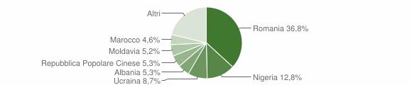 Grafico cittadinanza stranieri - Codigoro 2019