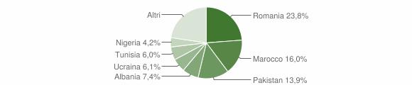 Grafico cittadinanza stranieri - San Pietro in Casale 2018