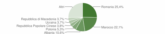 Grafico cittadinanza stranieri - Lugo 2012