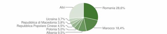 Grafico cittadinanza stranieri - Lugo 2016