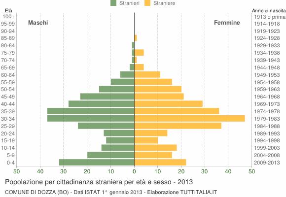 Grafico cittadini stranieri - Dozza 2013