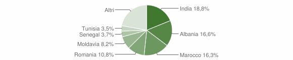 Grafico cittadinanza stranieri - Fontanellato 2015