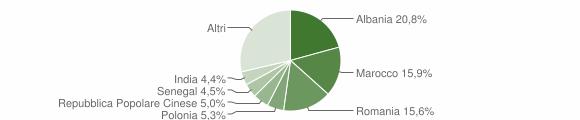 Grafico cittadinanza stranieri - Forlimpopoli 2008