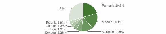 Grafico cittadinanza stranieri - Forlimpopoli 2013