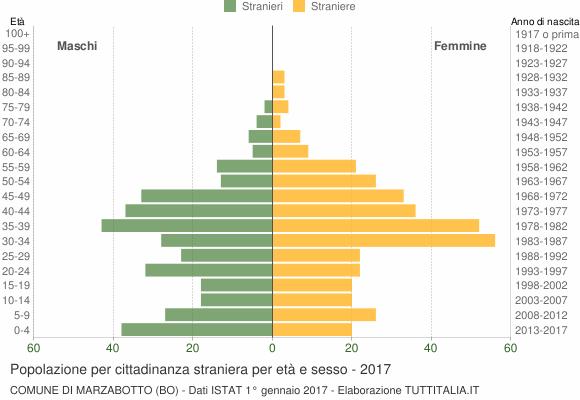 Grafico cittadini stranieri - Marzabotto 2017