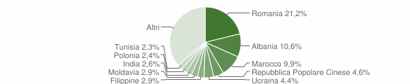 Grafico cittadinanza stranieri - 2011