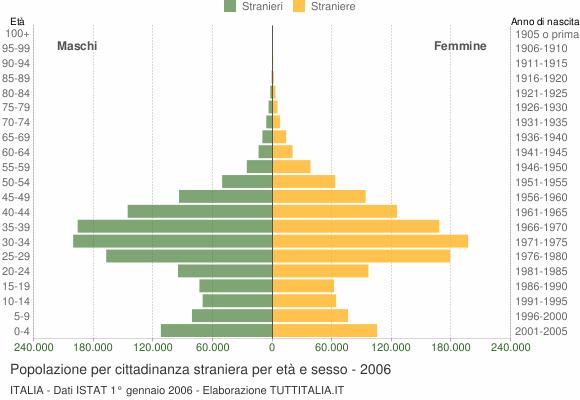 Grafico cittadini stranieri - 2006