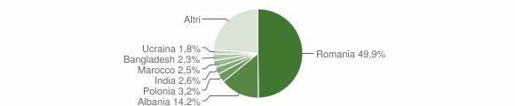 Grafico cittadinanza stranieri - Fiano Romano 2018