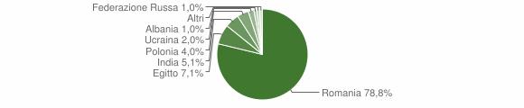 Grafico cittadinanza stranieri - Casape 2019