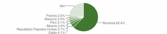 Grafico cittadinanza stranieri - Guidonia Montecelio 2018