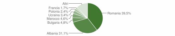 Grafico cittadinanza stranieri - Cervaro 2017