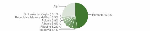 Grafico cittadinanza stranieri - Morlupo 2018