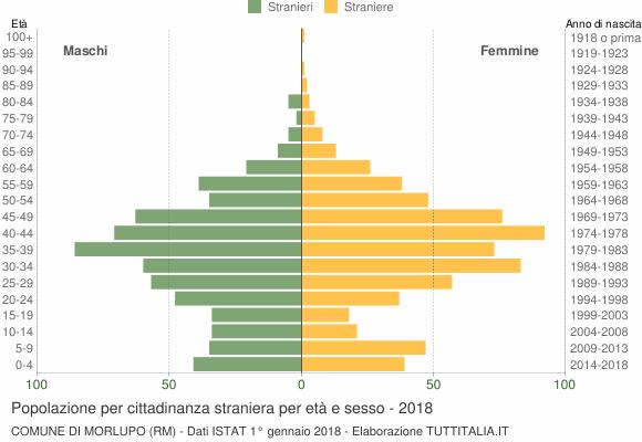 Grafico cittadini stranieri - Morlupo 2018