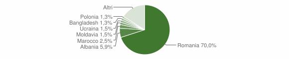 Grafico cittadinanza stranieri - Zagarolo 2019