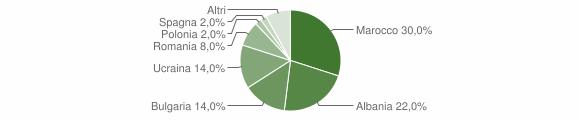 Grafico cittadinanza stranieri - Sant'Apollinare 2012
