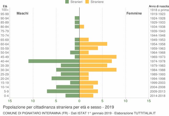 Grafico cittadini stranieri - Pignataro Interamna 2019