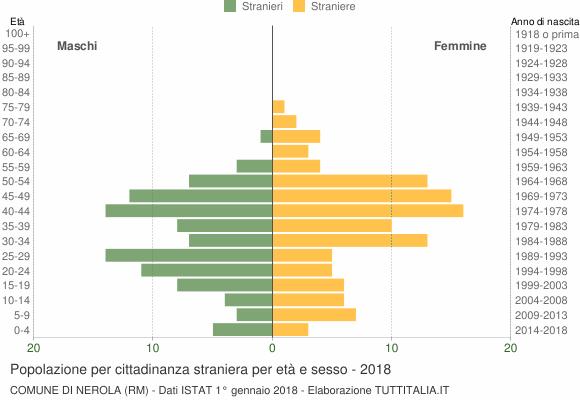 Grafico cittadini stranieri - Nerola 2018