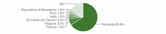 Grafico cittadinanza stranieri - Sacrofano 2017